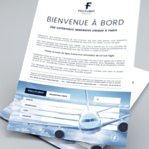 Simulateur de vol Full Flight à Paris - Boarding Pass